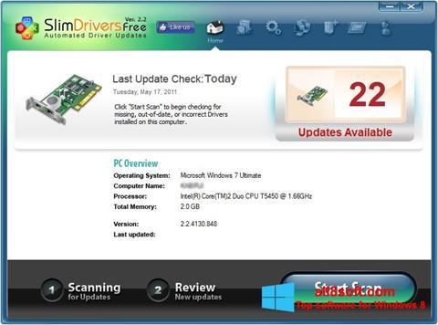 Screenshot SlimDrivers Windows 8