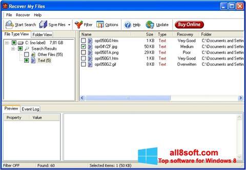 Screenshot Recover My Files Windows 8