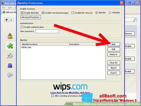 Screenshot uBlock Windows 8