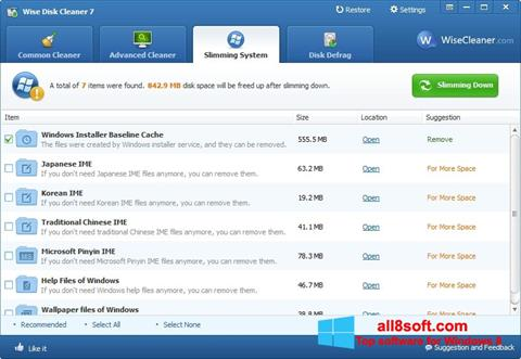 Screenshot Wise Disk Cleaner Windows 8