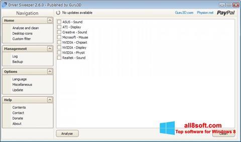 Screenshot Driver Sweeper Windows 8