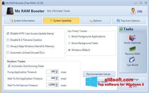 Screenshot Mz RAM Booster Windows 8