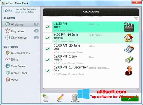 Screenshot Atomic Alarm Clock Windows 8
