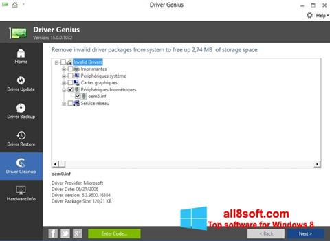 Screenshot Driver Genius Windows 8