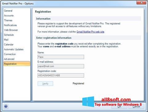 Screenshot Gmail Notifier Windows 8