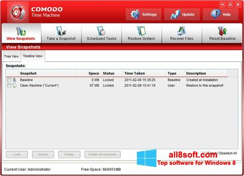 Screenshot Comodo Time Machine Windows 8