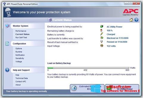 Screenshot PowerChute Personal Edition Windows 8