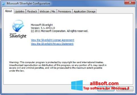 Screenshot Microsoft Silverlight Windows 8