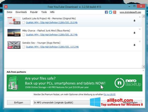 Screenshot Free YouTube Download Windows 8