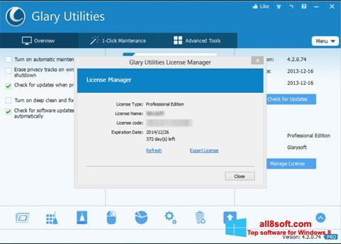 Screenshot Glary Utilities Windows 8