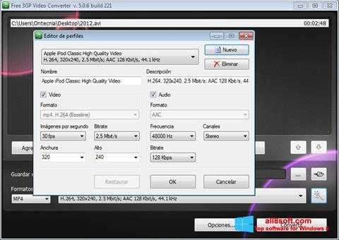Screenshot Free MP4 Video Converter Windows 8