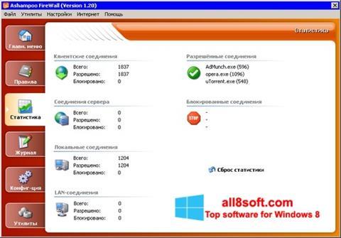 Screenshot Ashampoo Firewall Windows 8