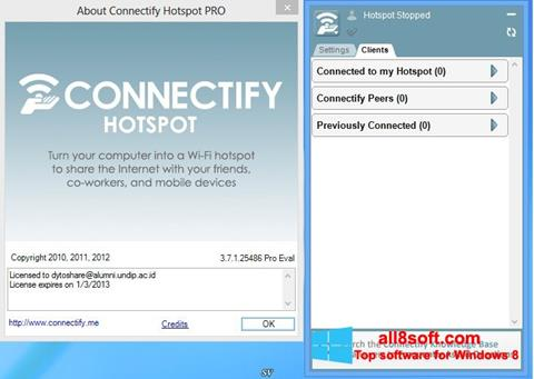 Screenshot Connectify Hotspot Windows 8