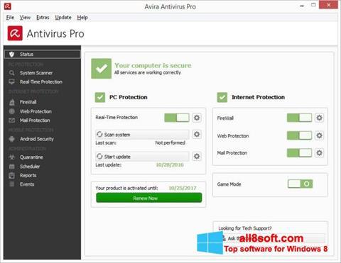 Screenshot Avira Antivirus Windows 8