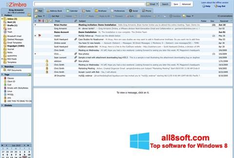 Screenshot Zimbra Desktop Windows 8