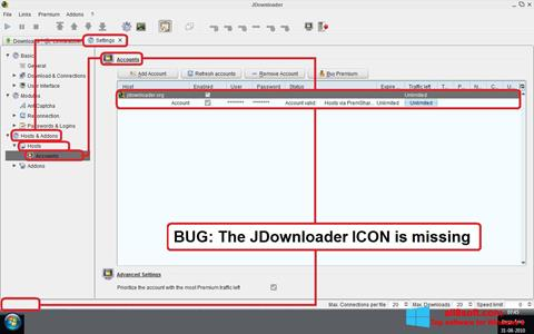 Screenshot JDownloader Windows 8