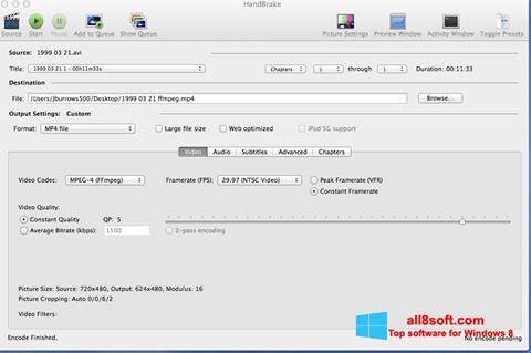 Screenshot HandBrake Windows 8