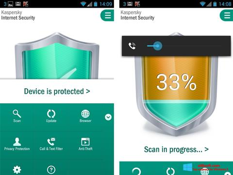 Screenshot Kaspersky Mobile Security Windows 8