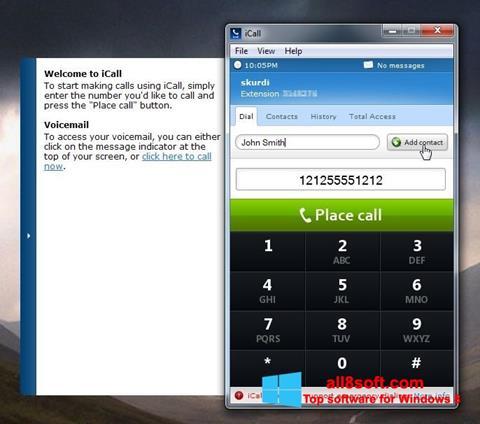Screenshot iCall Windows 8