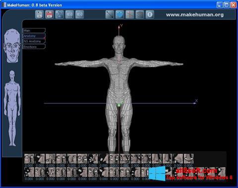 Screenshot MakeHuman Windows 8