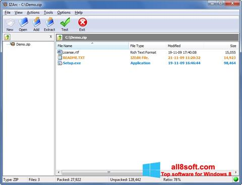 Screenshot IZArc Windows 8
