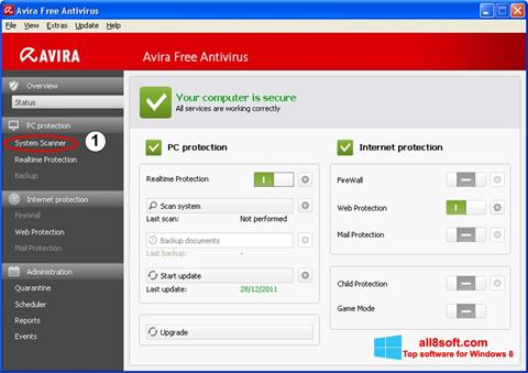 Screenshot Avira Windows 8