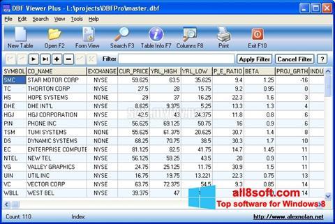 Screenshot DBF Viewer Windows 8